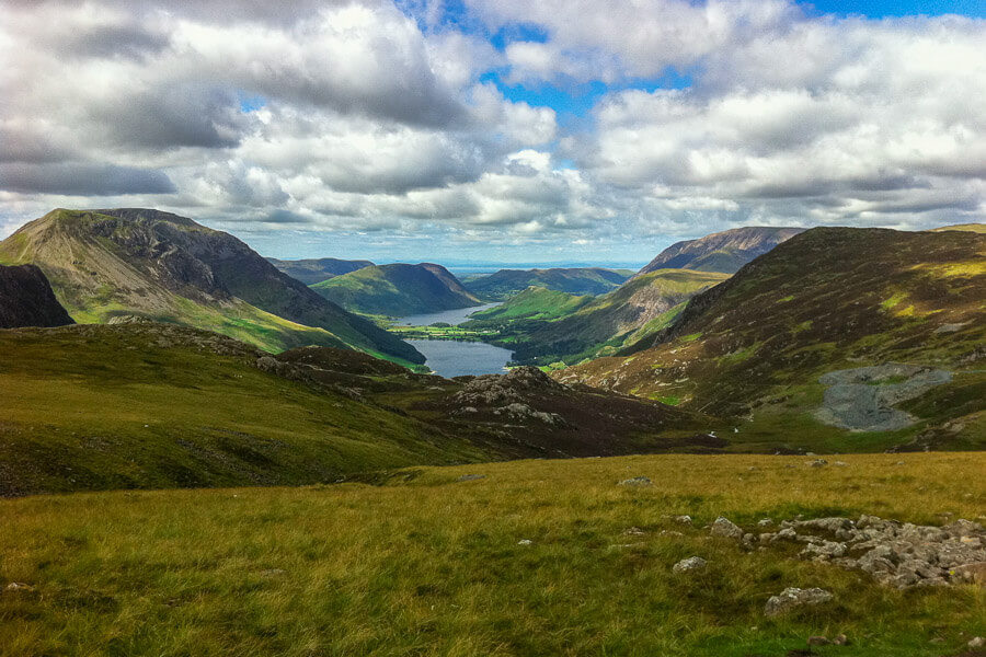 Buttermere valley from near Grey Knotts in the Lake District
