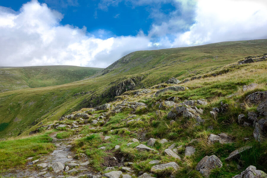 The path up Helvellyn in the Lake District