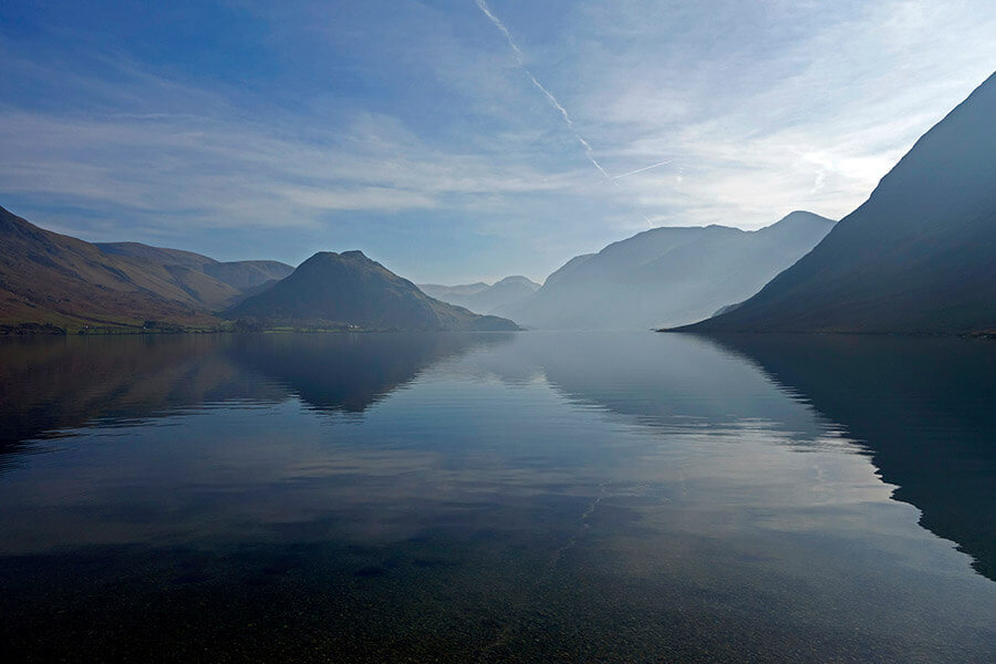 Crummock Water in the Lake District with Rannerdale Knotts in the distance